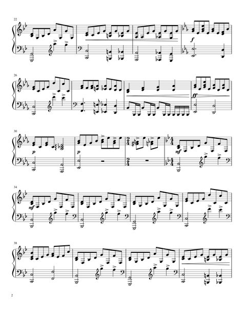 Bohemian Rhapsody For Piano Sheet Music For Piano And Keyboard