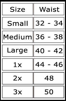 Transvestite size chart