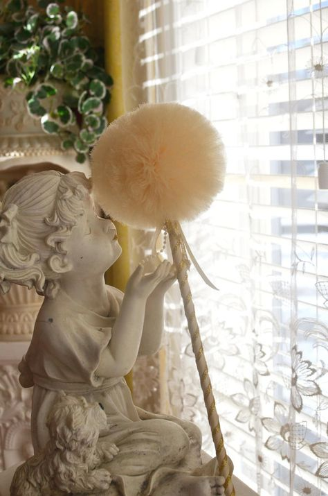 Sparkly Ivory Toy Tulle Puff  Magic Wand for Flower Girl by Tuturocks, $9.95