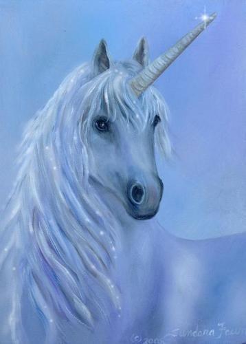 Healing unicorn by Sundara Fawn.