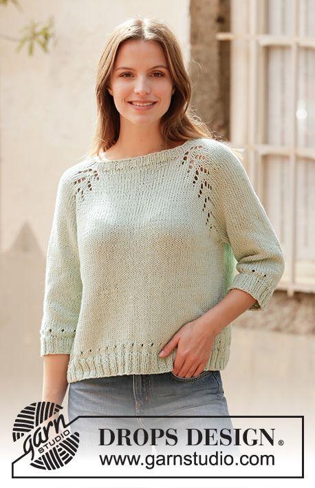 Mint Tea Sweater Drops 210 19 Free Knitting Patterns By Drops
