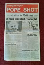 VINTAGE OAKLAND TRIBUNE NEWSPAPER - POPE SHOT- MAY 13, 1981 - FIRST SECTION