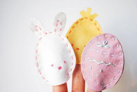 Easter Egg Finger Puppets by wildolive