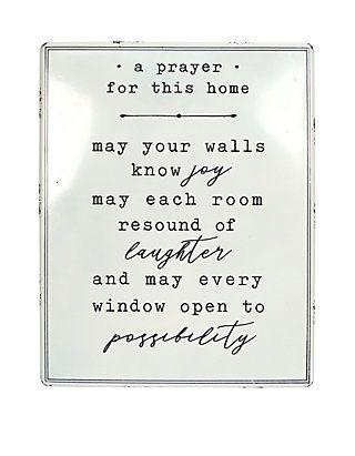 A Prayer Plaque Wall Decor Wall Plaques Wall Decor Prayers