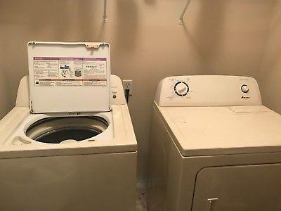 Amana Washer And Dryer Set Gently Used White Amana Washer And