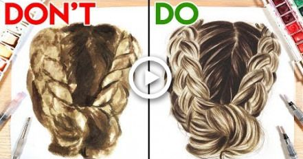 Dos Donts How To Paint Hair With Watercolor Hair Painting