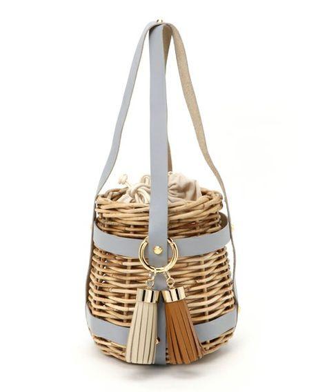 7c558cf57c3d Rare Vintage GUCCI Wicker & Leather Basket Saddle Bag Style Handbag!: