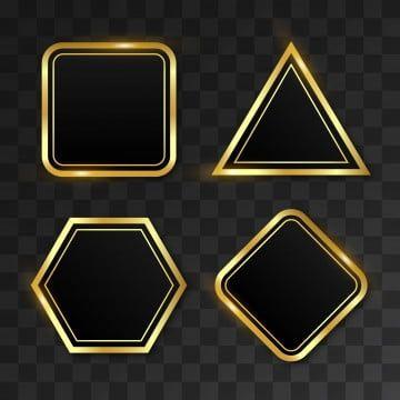 مجموعة من مجموعة الأشكال الهندسية الذهبية هندسي خلفية الأشكال Png والمتجهات للتحميل مجانا In 2021 Geometric Vector Geometric Shapes Geometric Background