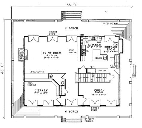 Southern Style House Plan 3 Beds 3 5 Baths 3060 Sq Ft Plan 17 2053 House Plans Porch House Plans Bedroom House Plans