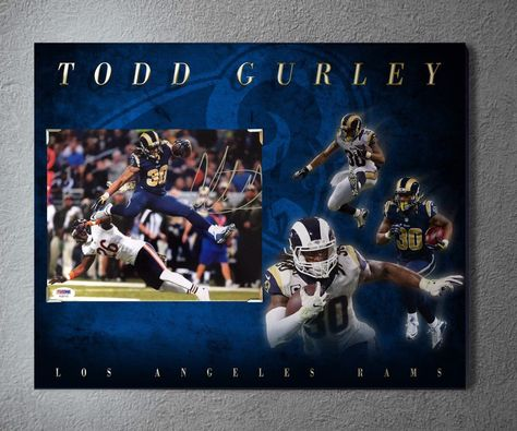 ef037bb6be85 Excited to share the latest addition to my  etsy shop  Los Angeles Rams  superstar running back Todd Gurley signed 8x10 photo (psa dna certified) on  an ...