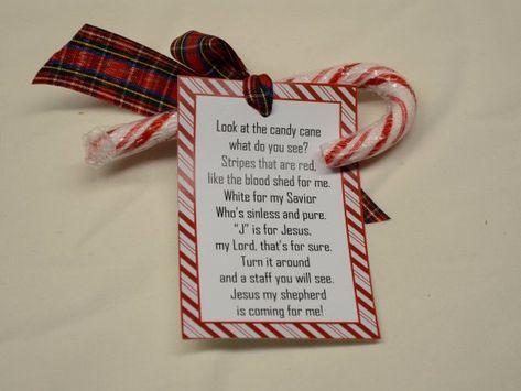 Legend of Christmas Candy Cane Jesus Poem Stocking Stuffer/Church Gift/Catechism Present/ Christmas