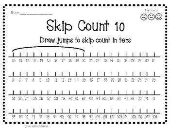 Skip Counting Worksheet Number Line Jump Activity Number Line Skip Counting Skip Counting Worksheets