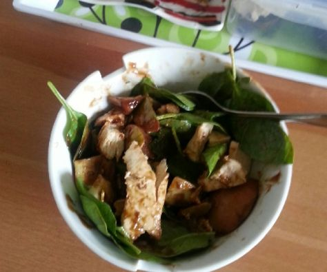 Julia's compost salad dressing is quick and has few ingredients. Add chicken and maybe some nuts and dried fruit and you've got an awesome, portable meal!  http://stalkerville.net/ #paleo #glutenfree #realfood