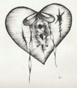 Los Mejores Dibujos De Corazones Hechos A Lapiz Mejores Imagenes Broken Heart Drawings Broken Heart Tattoo Heart Drawing