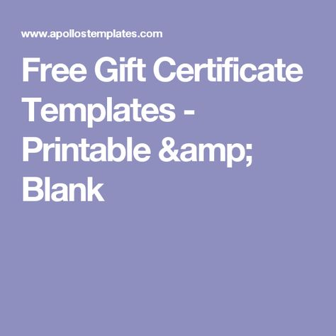 Free Gift Certificate Templates - Printable \ Blank donations - gift certificates templates free printable