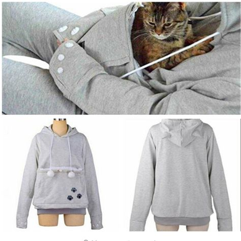 3ef2c15998e9 Cute Cat Hoodies With Cat Cuddle Pouch Mewgaroo Nyangaroo Dog Pet Hoodies  For Casual Unisex Kangaroo Hoodies Ears Sweatshirt 3XL