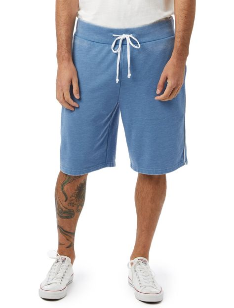 The Throwback French Terry Shorts - Blue/White / 2XL