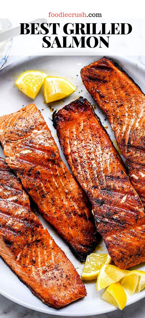 grilling recipes How To Make The Best Grilled Salmon Grilled Salmon Recipes, Grilled Fish, Fish Recipes, Seafood Recipes, Cooking Recipes, Healthy Recipes, Best Grilled Salmon Recipe Ever, Dinner Recipes, Recipes