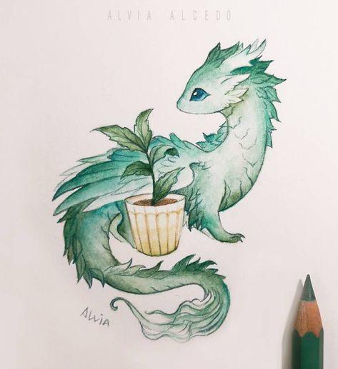 Plant dragon by AlviaAlcedo on DeviantArt