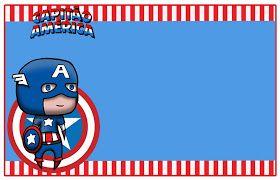 Kit De Aniversário Digital Capitão América Para Imprimir