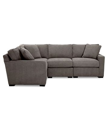 Furniture Radley Fabric 4 Pc Sectional Sofa With Corner Piece Created For Macy S Reviews Furniture Macy S In 2020 Sectional Sofa Macy Furniture Sectional