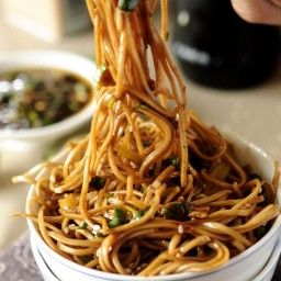 Soba Noodles With Sweet Ginger Scallion Sauce Recipe In Soba Noodles Soba Food