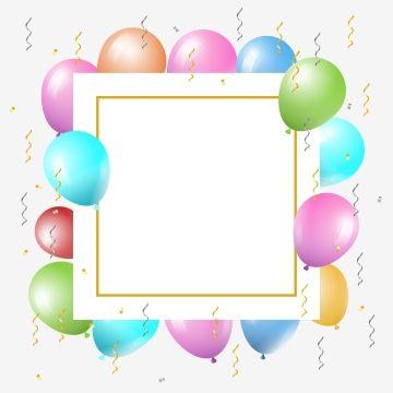 벡터 만화 어린이 풍선 배경 Balloon Background Celebration Background Birthday Frames