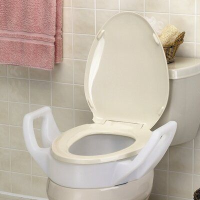 Maddak Elevated Raised Toilet Seat With Arms Standard Shower
