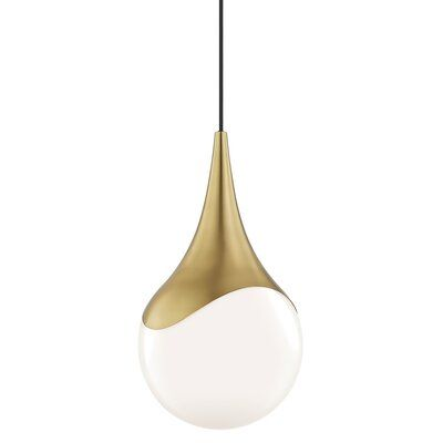 Wrought Studio Ronaldo 1 Light Single Teardrop Pendant Wayfair Ca All Modern Contemporary Pendant Lights Pendant Lighting
