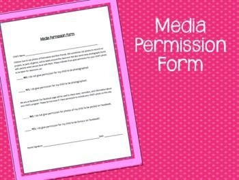 This Media Permission Form Records Parent Consent For Childrens Photo To Be Taken Classroom Use