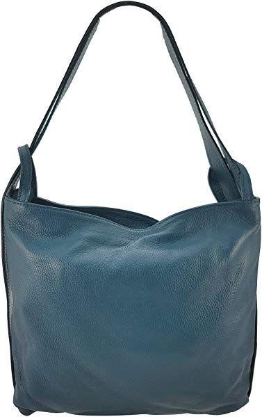 Freyday 2in1 Damen Handtasche Rucksack Designer Luxus Henkeltasche Aus 100 Echtleder Petrol Handtasche Rucksack Handtaschen Henkeltasche