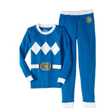 3de057cfac Power Rangers Boys  Blue Mighty Morphin Cotton Tight Fit Pajama ...