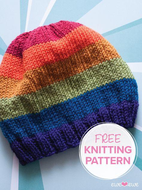 Pride Parade {free hat knitting pattern}
