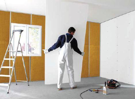 Pose De Plaque De Platre Placo Au Plafond Les Etapes Plaque De Platre Cloison Placo Decoration Plafond