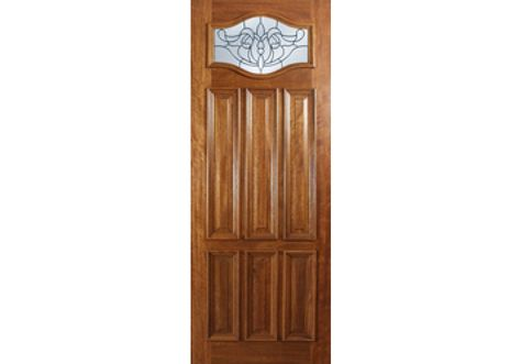 Impressa Escon Brazilian Mahogany 6 Panel Door 1 3 4 Exterior Doors Exterior Doors With Glass Glass Door