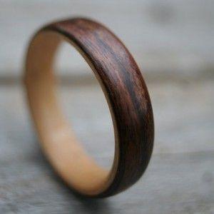 wood wedding rings wooden wedding trends society bride trend alert rose gold wedding - Wood Wedding Rings For Men
