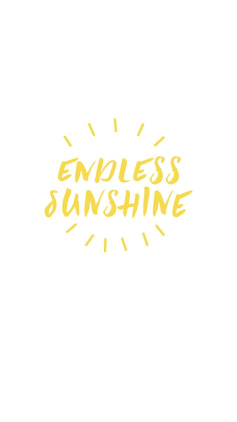 FREE Endless Sunshine Phone Wallpaper