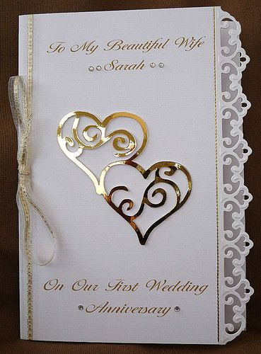 Personalised Handmade A5 Card Wife Wedding Anniversary Silver Ruby Golden 15 In 2020 Anniversary Cards Handmade Wedding Anniversary Cards Anniversary Cards For Husband