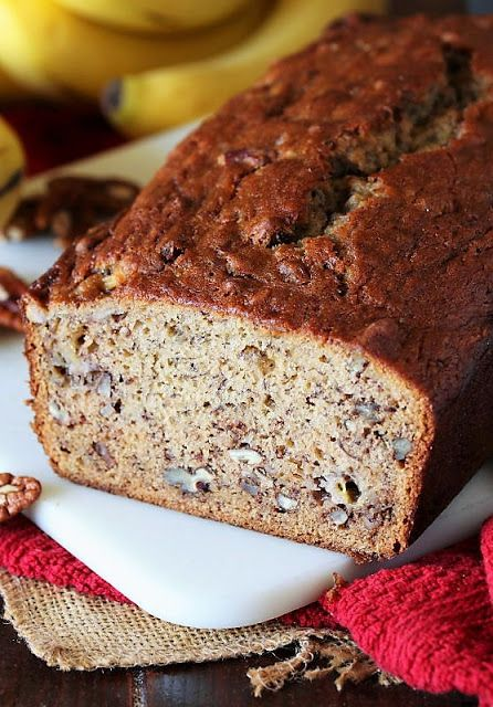 Loaf Of Buttermilk Banana Bread With Chopped Pecans Image In 2020 Buttermilk Banana Bread Banana Pecan Bread Banana Bread Recipe Moist