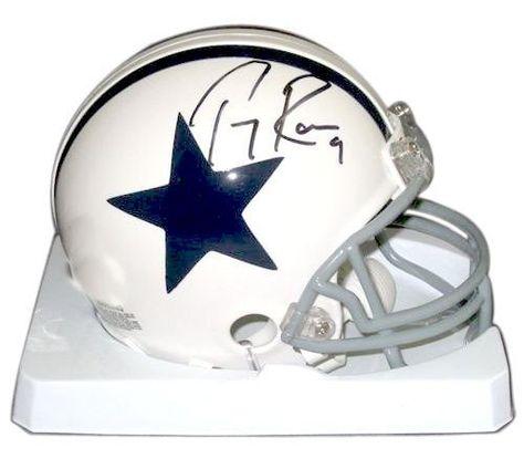 c92af268ef7 Tony Romo Signed Autograph Dallas Cowboys Mini Helmet Authentic Certified  Coa by nfl. $99.99.