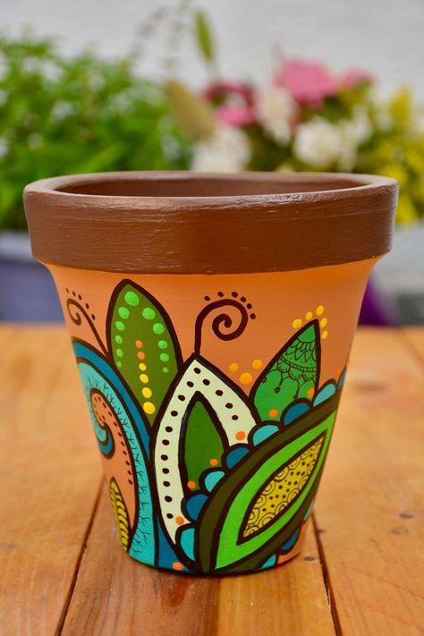 22 Trendy Painting Flower Pots Mandala Painted Pots Diy Painted Plant Pots Diy Flower Pots