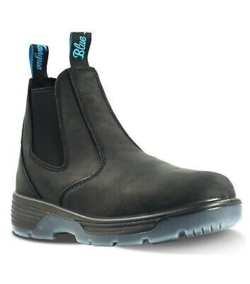 Redback Blue Tongue Footwear Men S Station Soft Toe 6 Black Work Boots Shoes In 2020 Black Work Boots Shoe Boots Work Boots