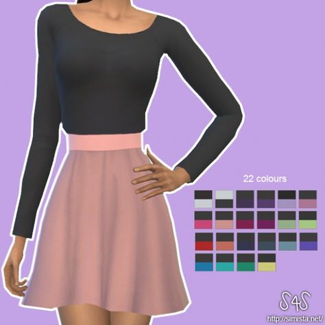 Simista: Milly Skirt And Top • Sims 4 Downloads