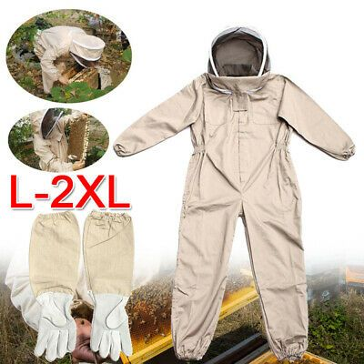 Protective Clothing Full Body Anti-bee Suit Beekeeping Veil Hood Cotton