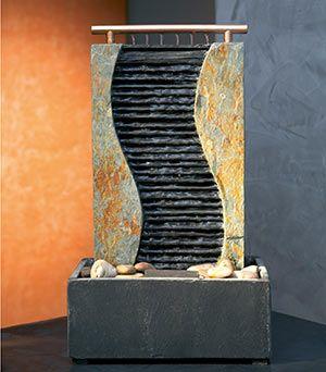 Schieferbrunnen Guan Zimmerbrunnen Tischbrunnen Und Moderne Brunnen