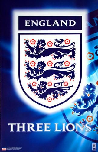 Team England Football Three Lions Crest Poster Starline Inc England Football England National Football Team England Lions