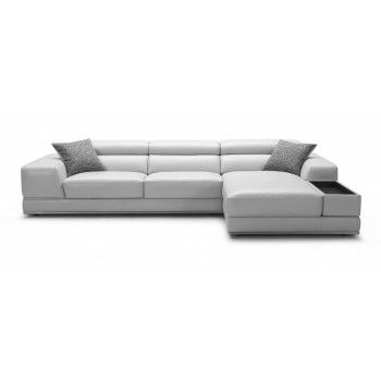 Great price for a high-end stylish sofa. Bergamo Sectional Leather Sofa comes in gray or white. By Modani | Living Room | Pinterest | Leather sofas ...  sc 1 st  Pinterest : modani sectional - Sectionals, Sofas & Couches