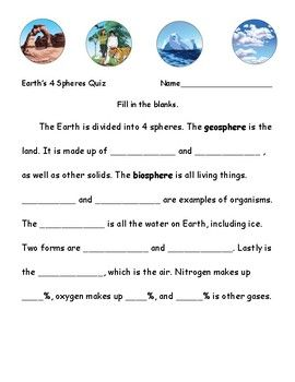 4 Spheres Of Earth Quiz Song Too Earth S Spheres Earth Science Lessons Earth System Science