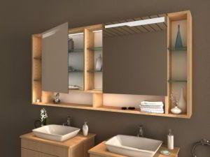 Spiegelschränke mit Ablage | Spiegelschrank, Badezimmer ...