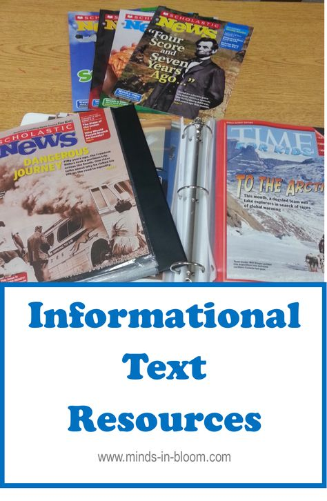 Here is a great blog post if you teach grades 3-5 and are looking for how to teach, assess and use informational text in your classrooms!